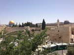 Looking down on the Temple Mount